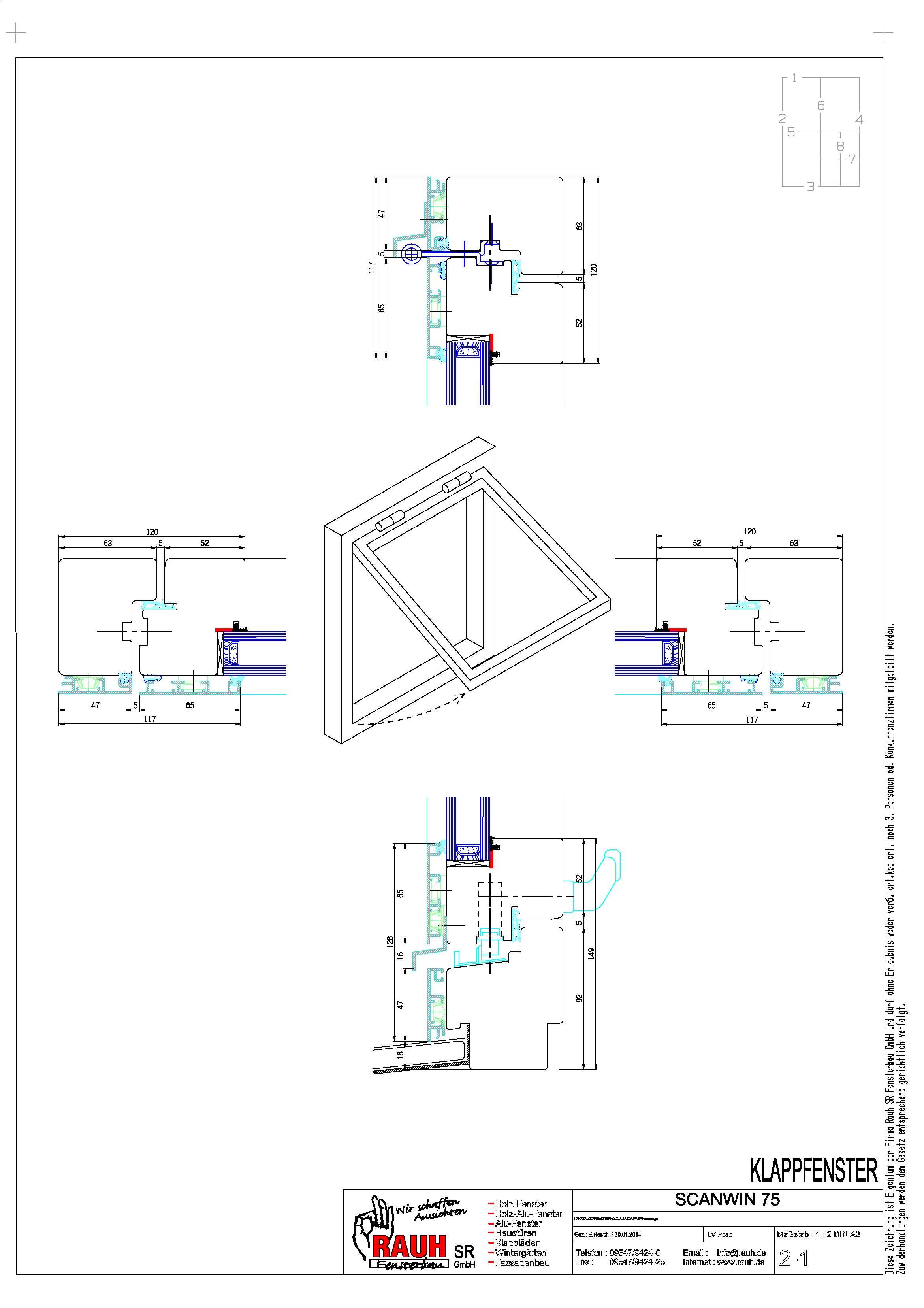 Fenster außen detail  RAUH SR Fensterbau GmbH: Scanwin
